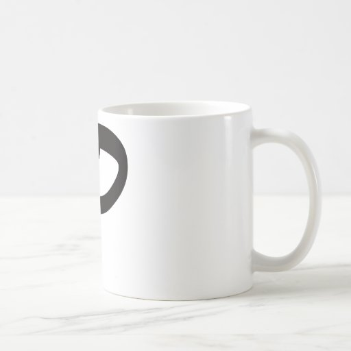 P is for Popular Classic White Coffee Mug