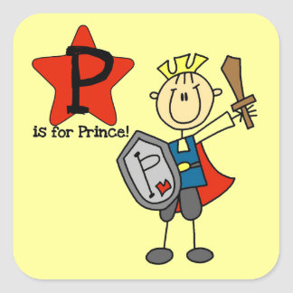P is for Prince Square Sticker
