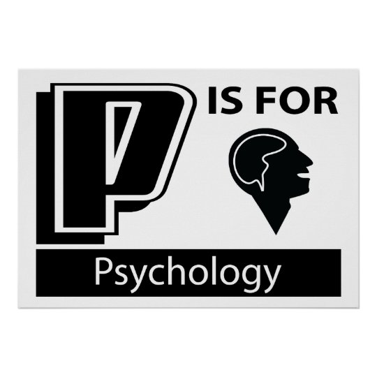 P Is For Psychology Poster