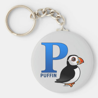 P is for Puffin Keychain