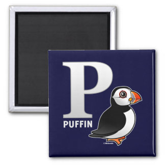 P is for Puffin Magnet