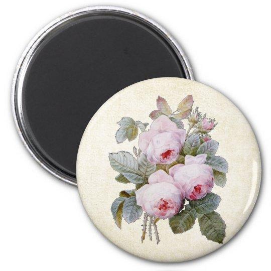 P.J. Redoute Bourbon Rose Bouquet Magnet