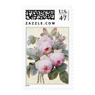 P.J. Redoute Bourbon Rose Bouquet Postage