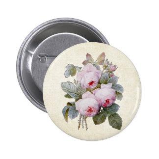 P.J. Redoute Bourbon Rose Floral Button