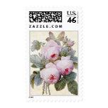 P.J. Redoute Bourbon Rose Postage Stamp