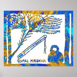 P. Krishna: Geeta Gyan by Shri Krishna print