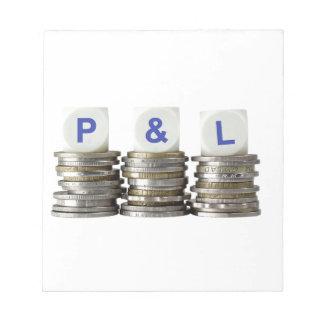 P&L - De ganancias y pérdidas Bloc De Notas