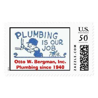 P Logo 4x Revised, Otto W. Bergman, Inc.Plumbin... Postage