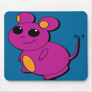 P.M. abstracta púrpura rechoncha del ratón Tapetes De Ratón