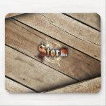 P.M. de la tormenta - (madera) Tapetes De Raton