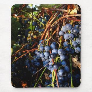 P M de las vides de uva Alfombrillas De Ratón