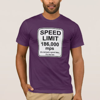 P.M. del límite de velocidad 186.000 Playera