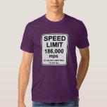P.M. del límite de velocidad 186.000 Playeras