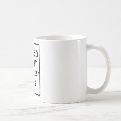 P.M. del límite de velocidad 186.282,397 (velocida Tazas De Café