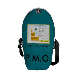 P.M.O. - Impresión exterior de la mini bolsa de Bolsas De Mensajeria