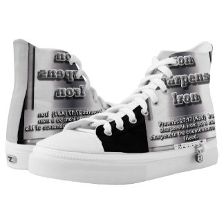 P.M.O.- Iron Sharpen Iron Sneakers Printed Shoes