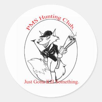 P.M.S. Club de caza Etiquetas Redondas
