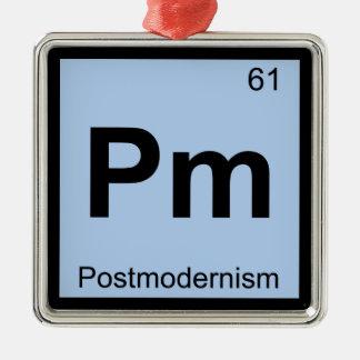 P.M. - Tabla periódica de la química del Adorno Cuadrado Plateado