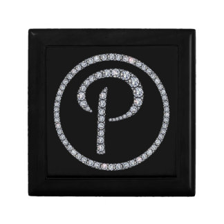 P Monogram bling ring gift box