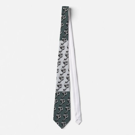 P Monogram Green and Gray Tie