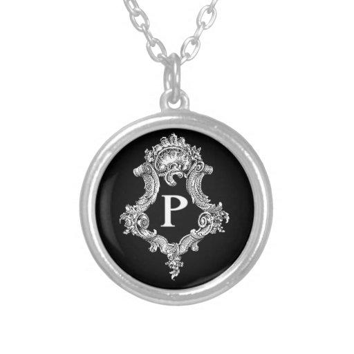 P Monogram Initial Pendant