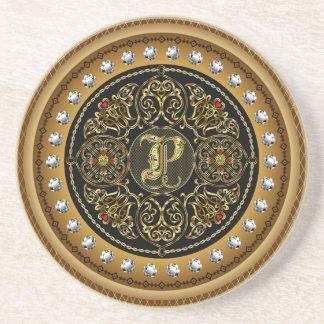 P Monogram Premium Best viewed large. see notes Drink Coaster