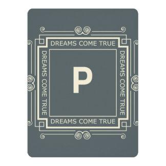 P Monogram Standard white envelopes included Card