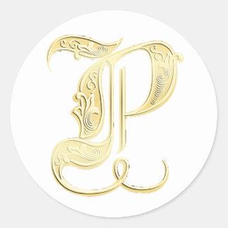 P Monogram sticker