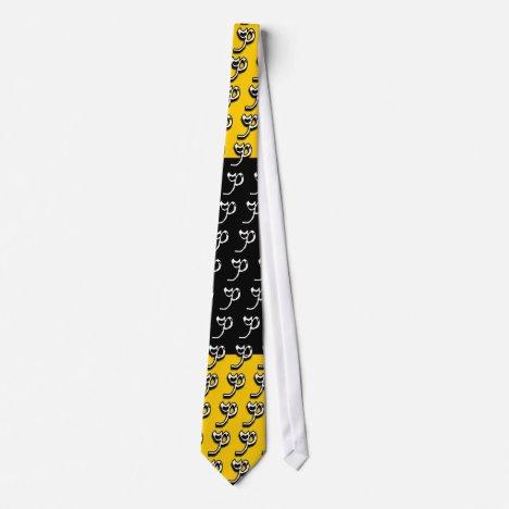 P Monogram Yellow Gold & Black Tie