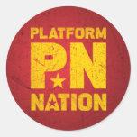 P*N Round Sticker