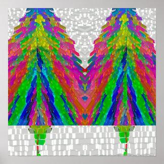 P. Navidad: Árbol - modelos del diamante de Snowhi Póster