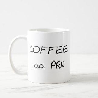 P.o. PRN del café Taza Básica Blanca