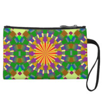 P pattern mini crutch - green/purple wristlet