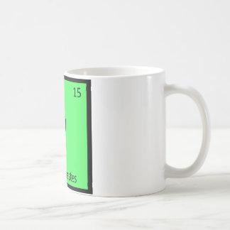 P - Peloneuestes Dinosaur Chemistry Periodic Table Coffee Mug