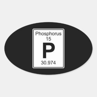 P - Phosphorus Oval Sticker
