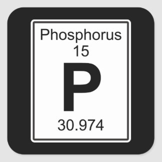 P - Phosphorus Square Sticker