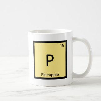 P - Pineapple Fruit Chemistry Periodic Table Classic White Coffee Mug
