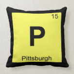 P - Pittsburgh Pennsylvania Chemistry Symbol Throw Pillow