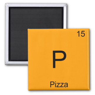 P - Pizza Funny Chemistry Element Symbol T-Shirt Refrigerator Magnet