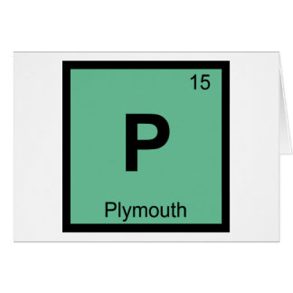 P - Plymouth Minnesota Chemistry Periodic Table Card