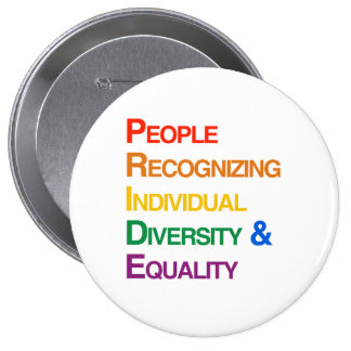 P-R-I-D-E: PEOPLE RECOGNIZING INDIVIDUAL DIVERSITY PINS