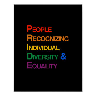 P-R-I-D-E: PEOPLE RECOGNIZING INDIVIDUAL DIVERSITY POSTER