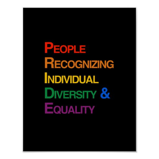 P-R-I-D-E: PEOPLE RECOGNIZING INDIVIDUAL DIVERSITY PRINT