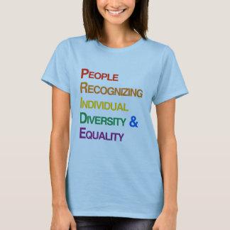 P-R-I-D-E: PEOPLE RECOGNIZING INDIVIDUAL DIVERSITY T-Shirt