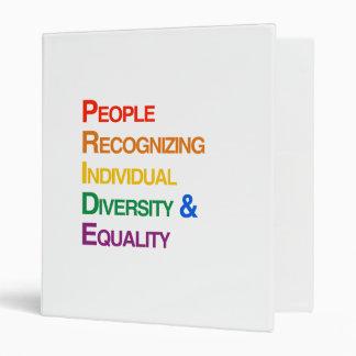 P-R-I-D-E: PEOPLE RECOGNIZING INDIVIDUAL DIVERSITY VINYL BINDER