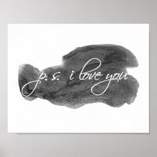 p.s. i love you - art print