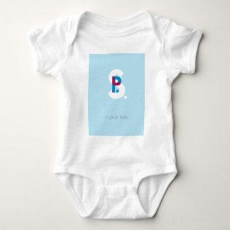 P.S. I Love You Blue Baby Bodysuit
