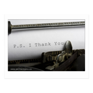 P.S. I Thank You Postcard