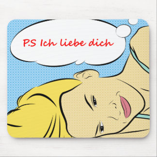 P S Ich liebe dich Mouse pad