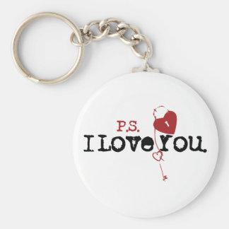 P.S. Te amo Llavero Redondo Tipo Pin